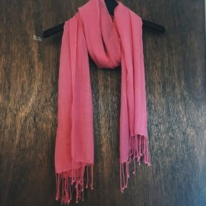 Accessories - 🌟 Pink Long Scarf with Fringe
